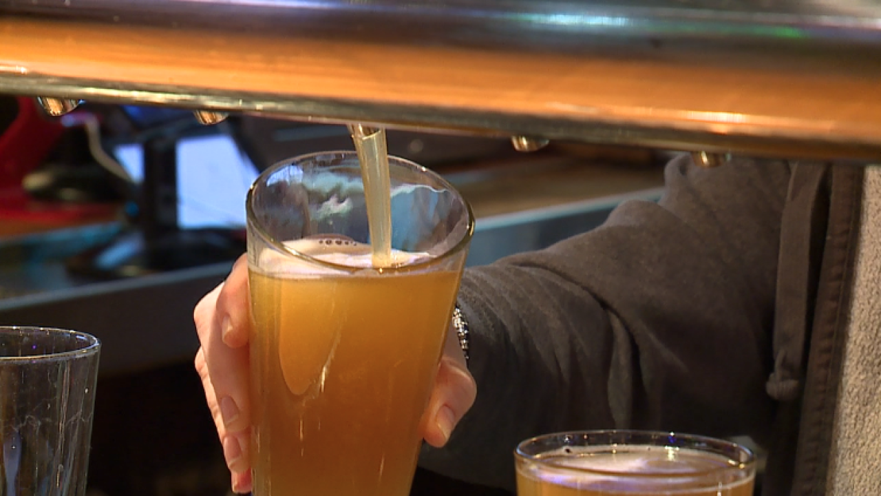 Beer poured at Charlie Hooper's Bar and Grille