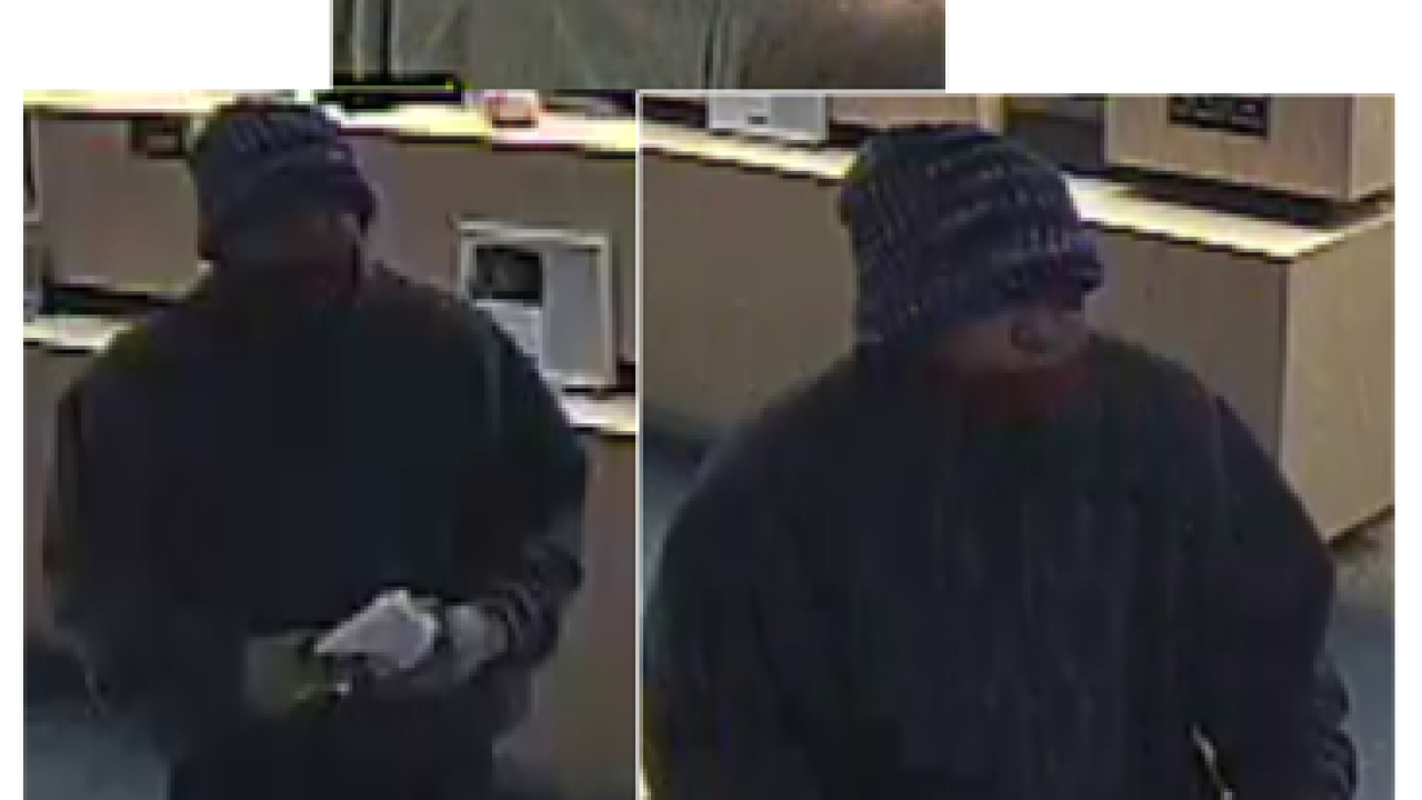 Police seek bank robbery suspect