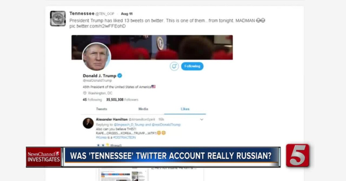 Was 'Tennessee' Twitter Account Really Russian?
