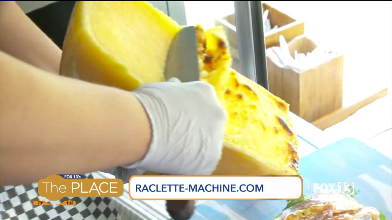 Swiss machine that puts melted cheese on everything is now available on a local foodtruck