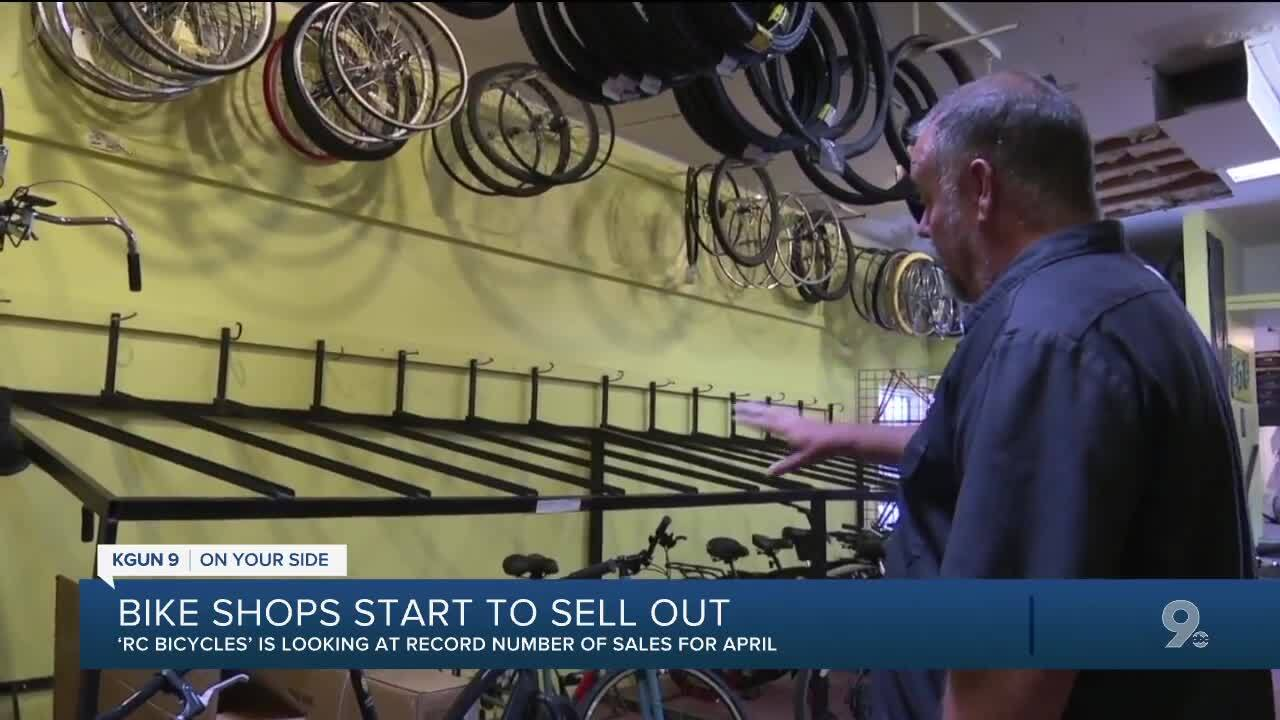 Bike shops in Tucson are starting to sell out