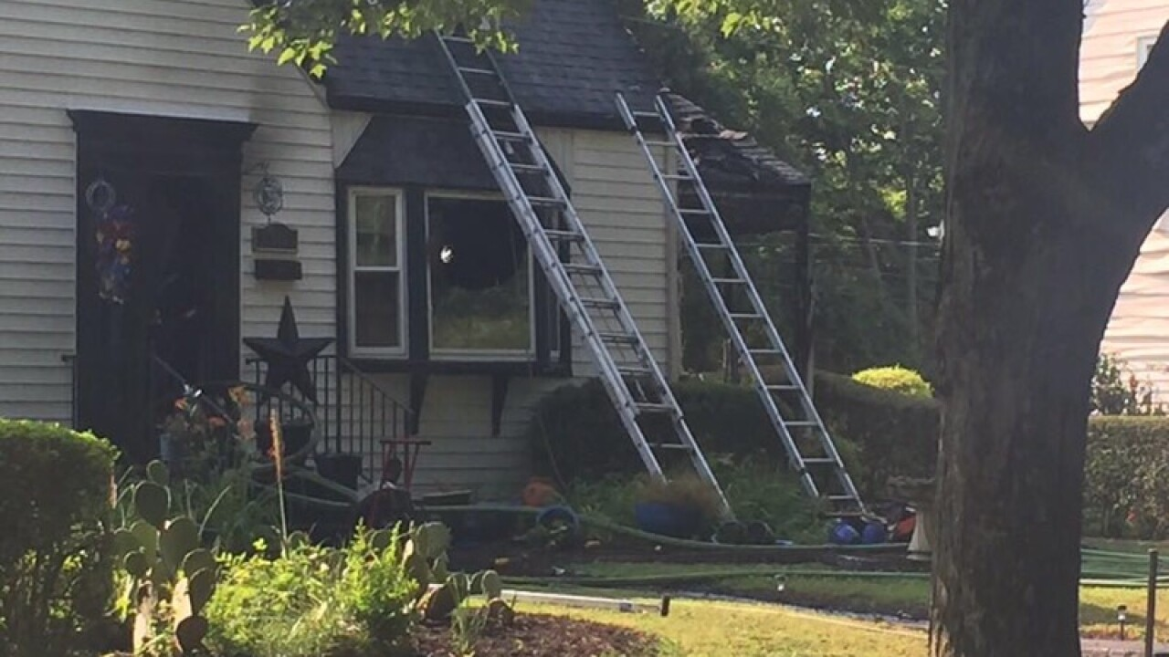 Fire damages Maymont neighborhood home