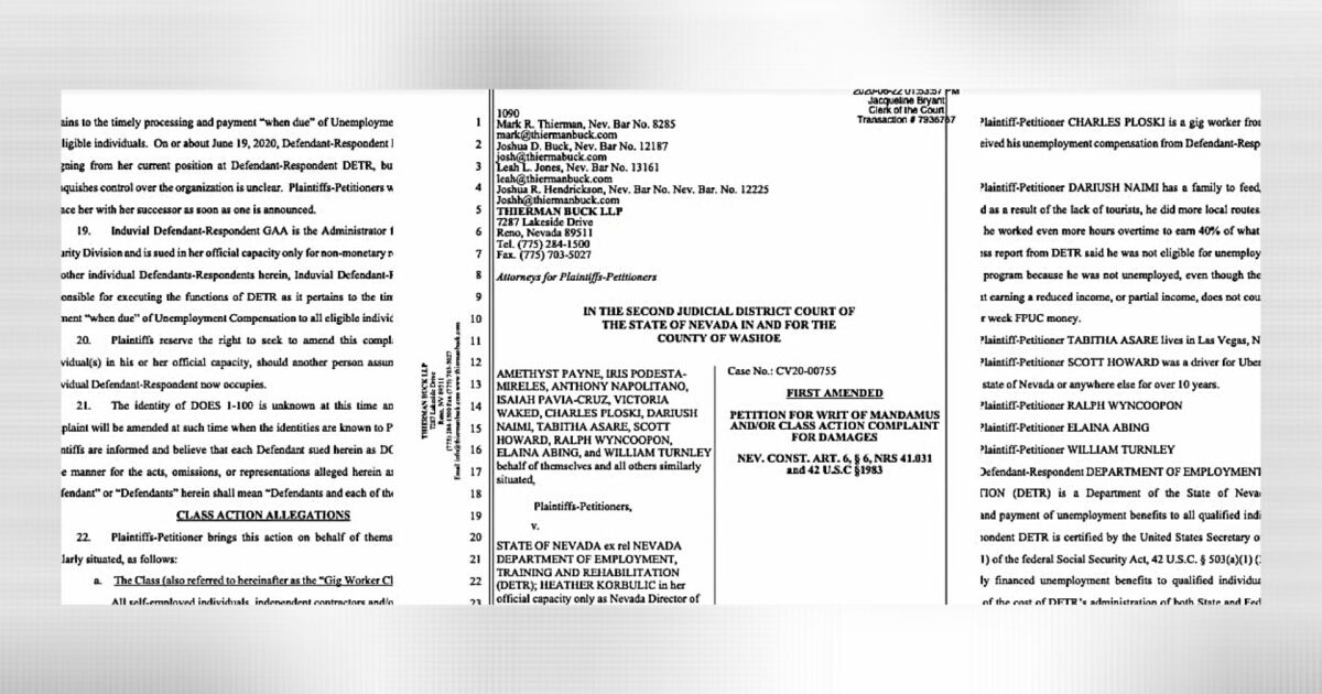 Class Action Lawsuit Seeks To Force Nevada S Unemployment Office To Do Its Job
