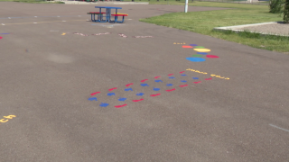 Scouts create sensory paths at Great Falls school
