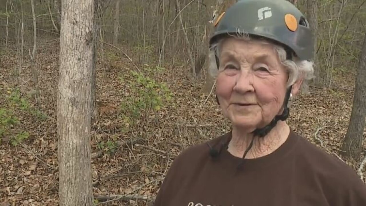 91-year-old North Carolina woman goes ziplining for first time