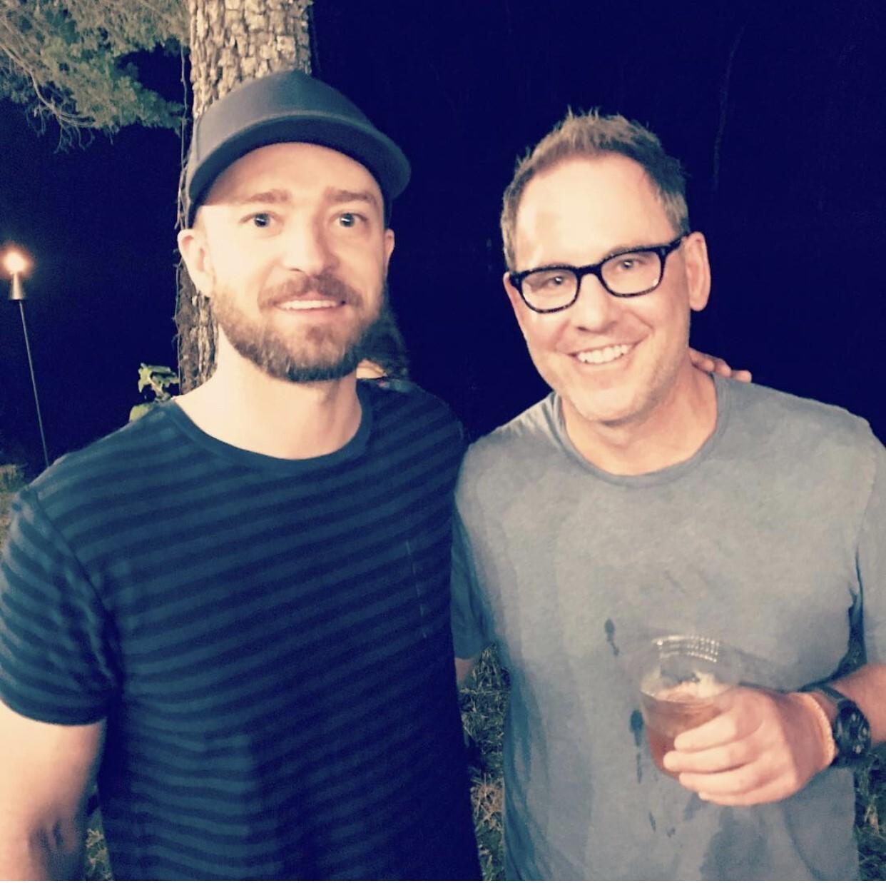 Tucson restaurateur Sam Fox with Justin Timberlake