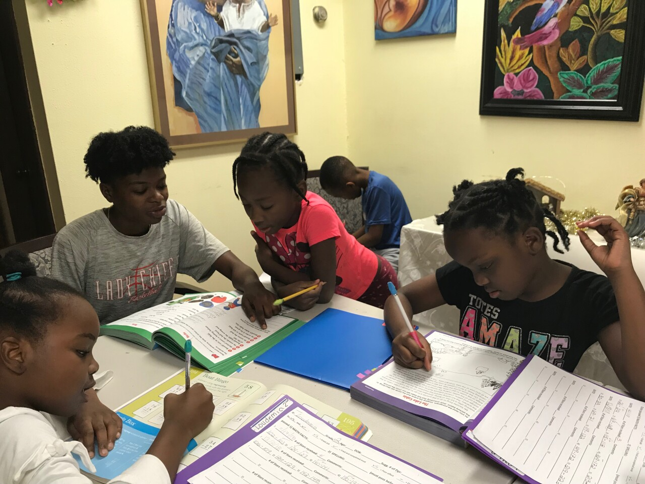 Children's classes at Hands Together for Haitians