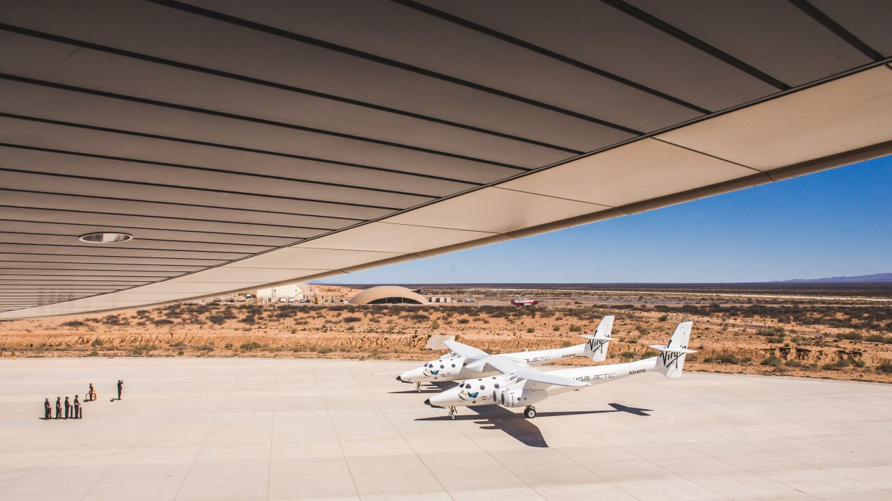 VMS Eve Prepares for Flight at Spaceport America