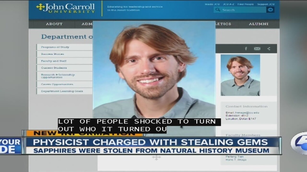 John Carroll emp. arrested for museum theft