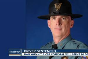 Man who struck and killed CSP trooper is sentenced