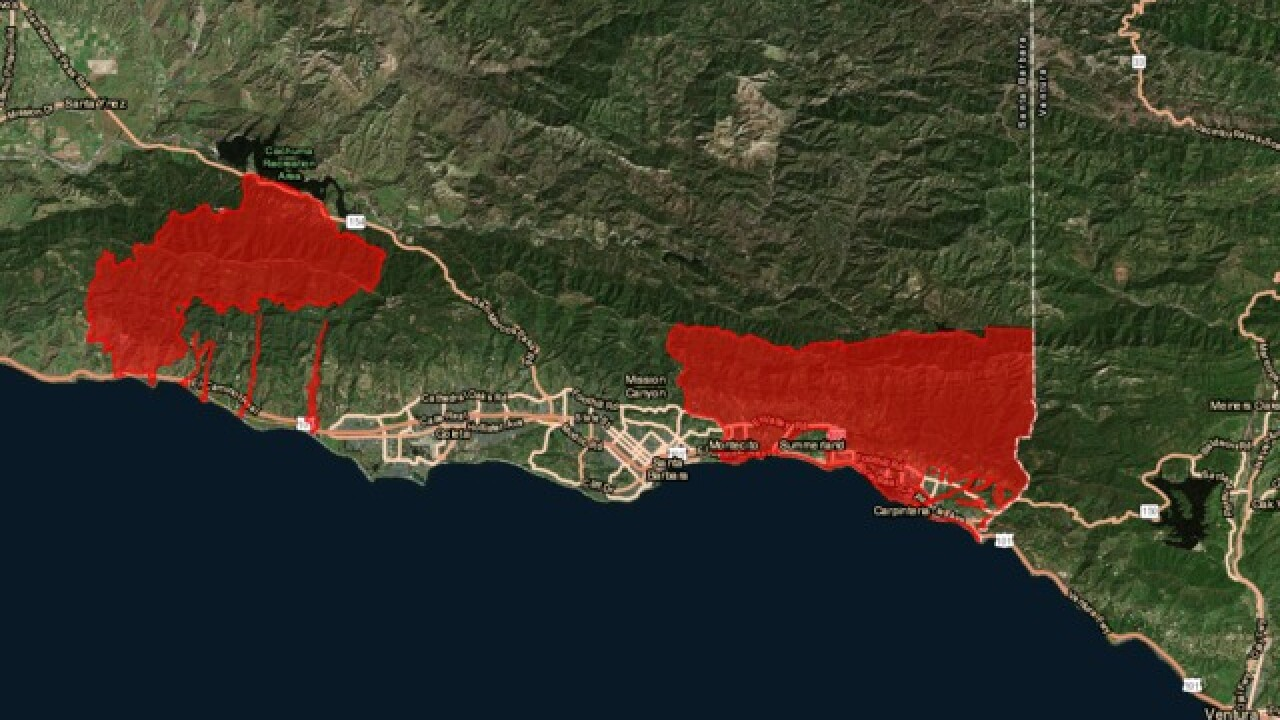 All evacuation orders lifted for Santa Barbara County