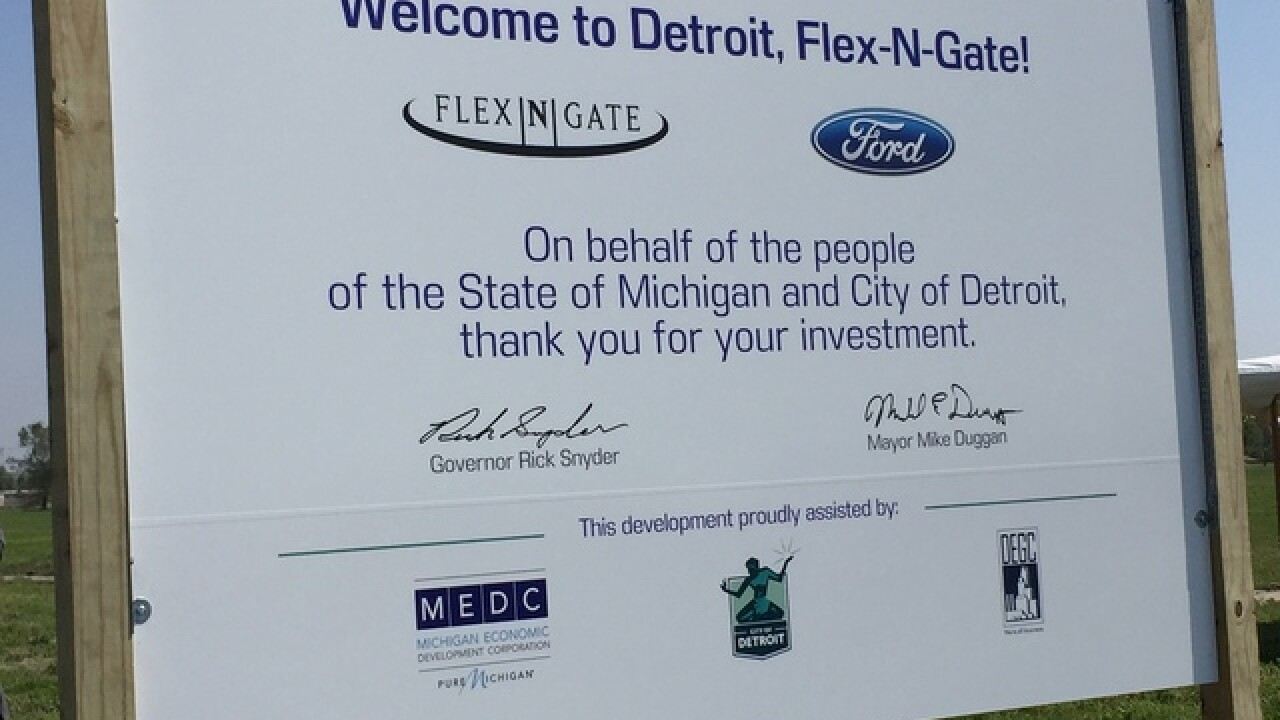 Flex-N-Gate to build plant in Detroit