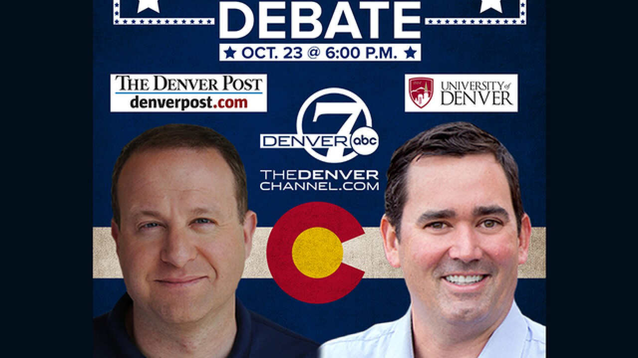 Final Colorado governor s debate set for Tuesday a4ee4d523
