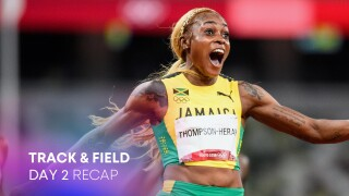 Track & Field Day 2: Thompson-Herah record leads Jamaican 100m sweep