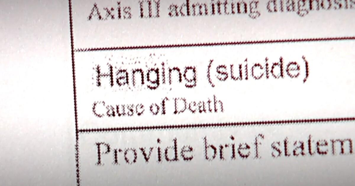 hanging suicide.'