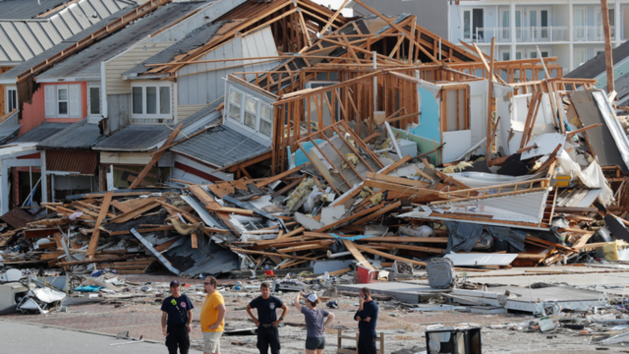 Aerial video shows widespread hurricane destruction in Mexico Beach, Florida