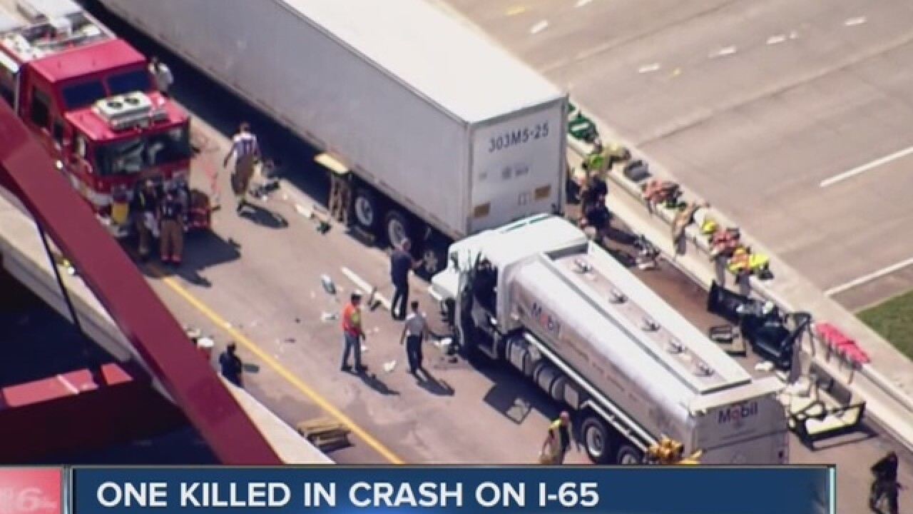 I-65 reopened after deadly crash near Columbus