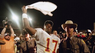 Florida State Seminoles QB Charlie Ward after winning 1994 Orange Bowl