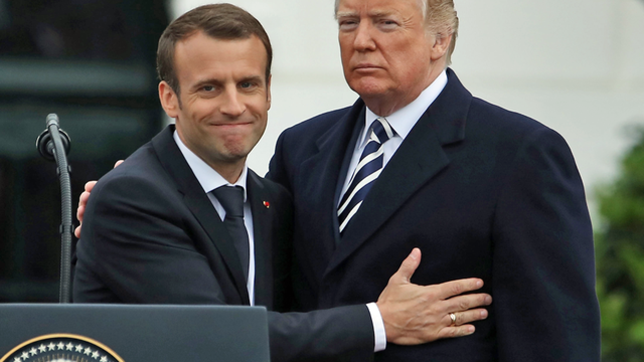 President Trump meets with French President Macron, praises US-French alliance