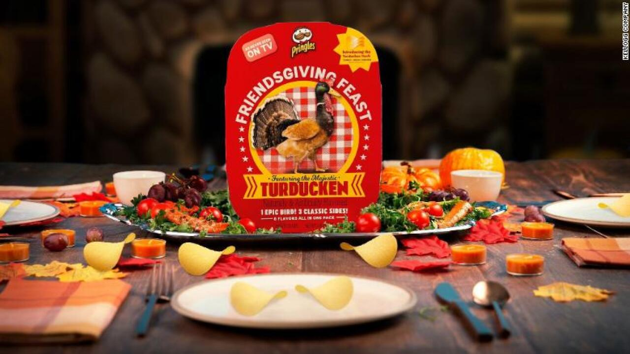 Pringles unveils turducken-flavored chips for an even crispier Thanksgiving feast