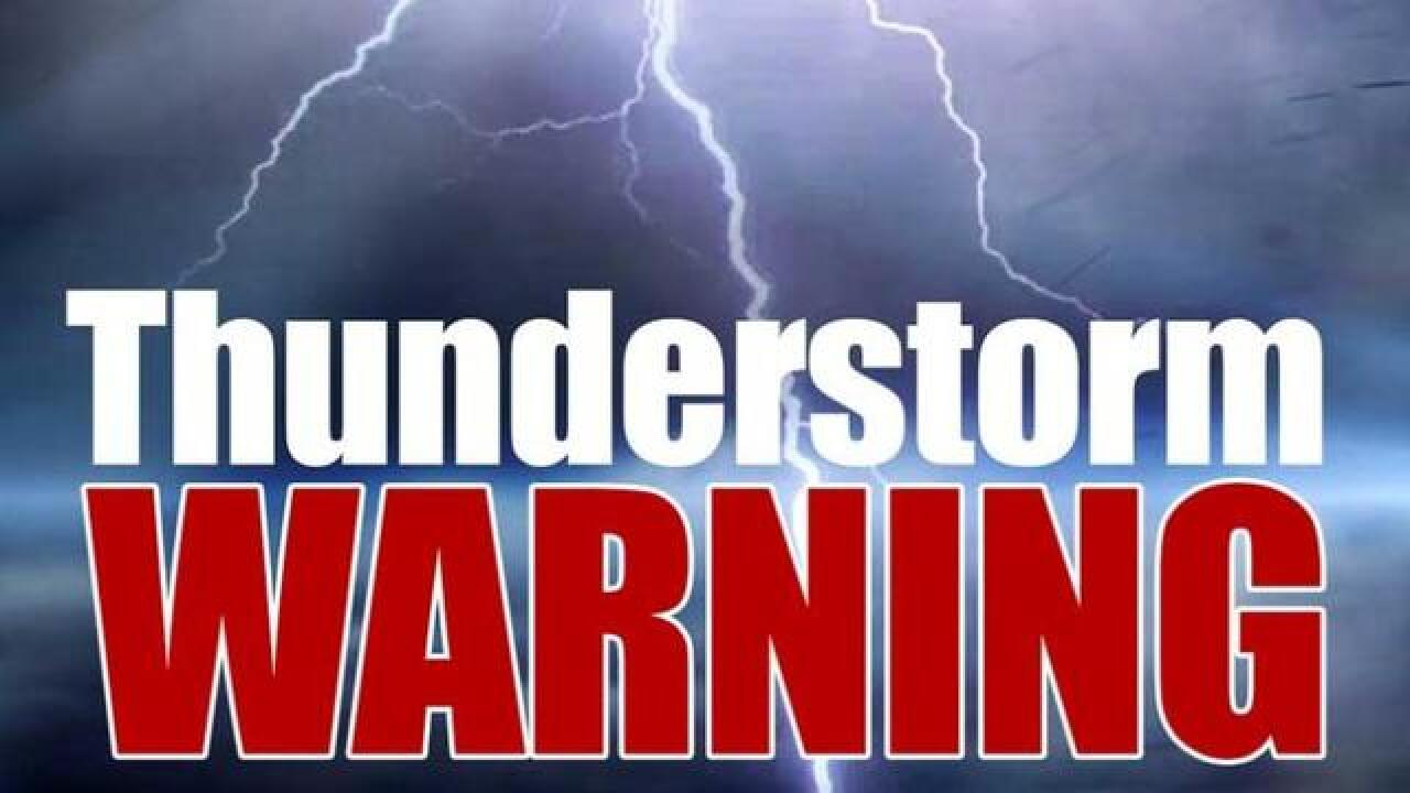 Severe Thunderstorm Warning in effect