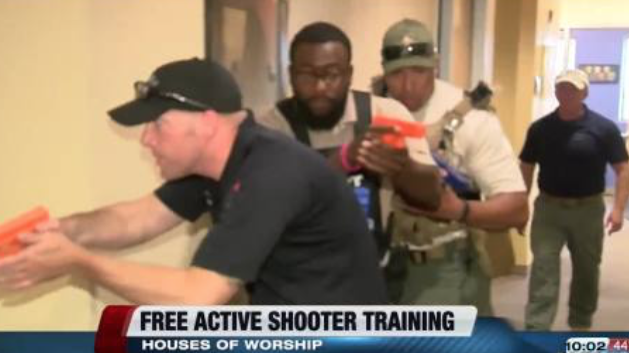 Free active shooter training in houses of worship