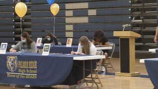Nine Palmer Ridge student-athletes sign national letters of intent