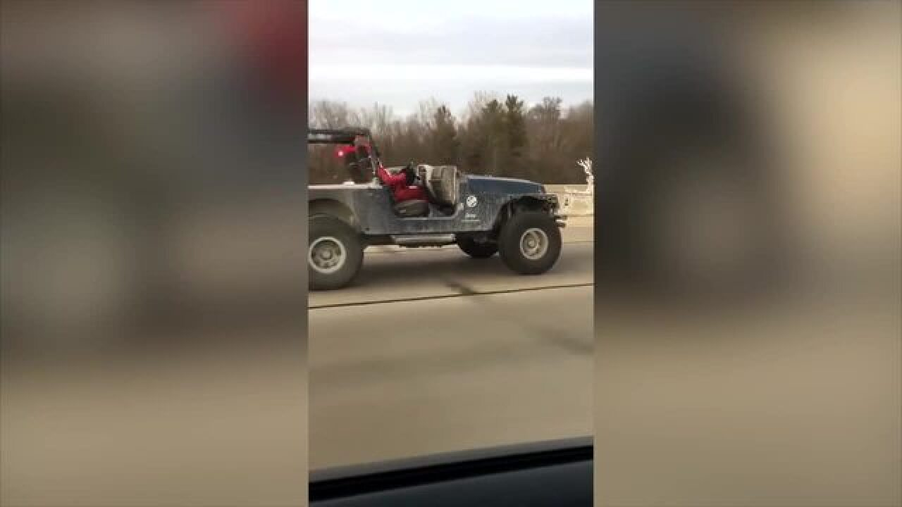 WATCH: Santa caught cruising on I-70 in Jeep