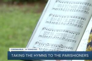 Madison church choir singing hymns to parishioners who are sheltered during the pandemic