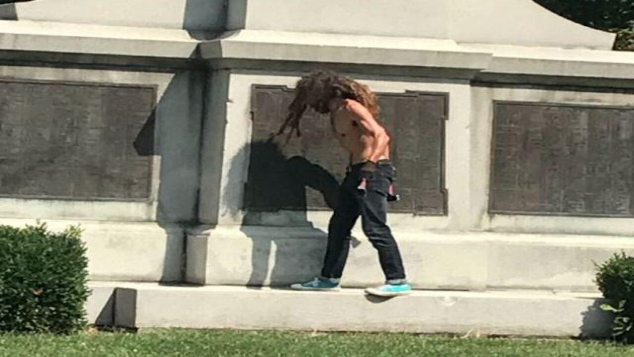PD: Man damaged Garfield Park statue with hammer