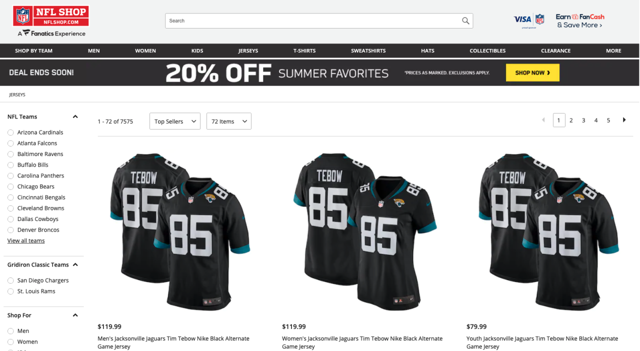 Tim Tebow jerseys among top sellers on NFL Shop website, May 21, 2021