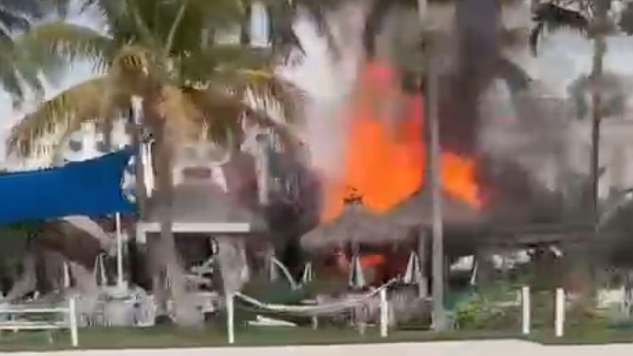 Fire at E.R. Bradley's Saloon in West Palm Beach on Sept. 9, 2021