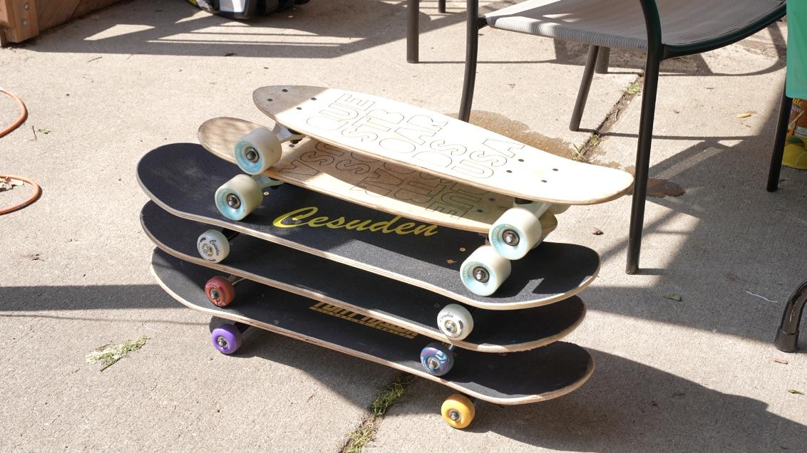 Skateboards given to Faith Murdock.