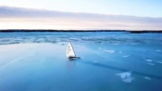 Fort Peck Lake hosts ice yacht racing championship