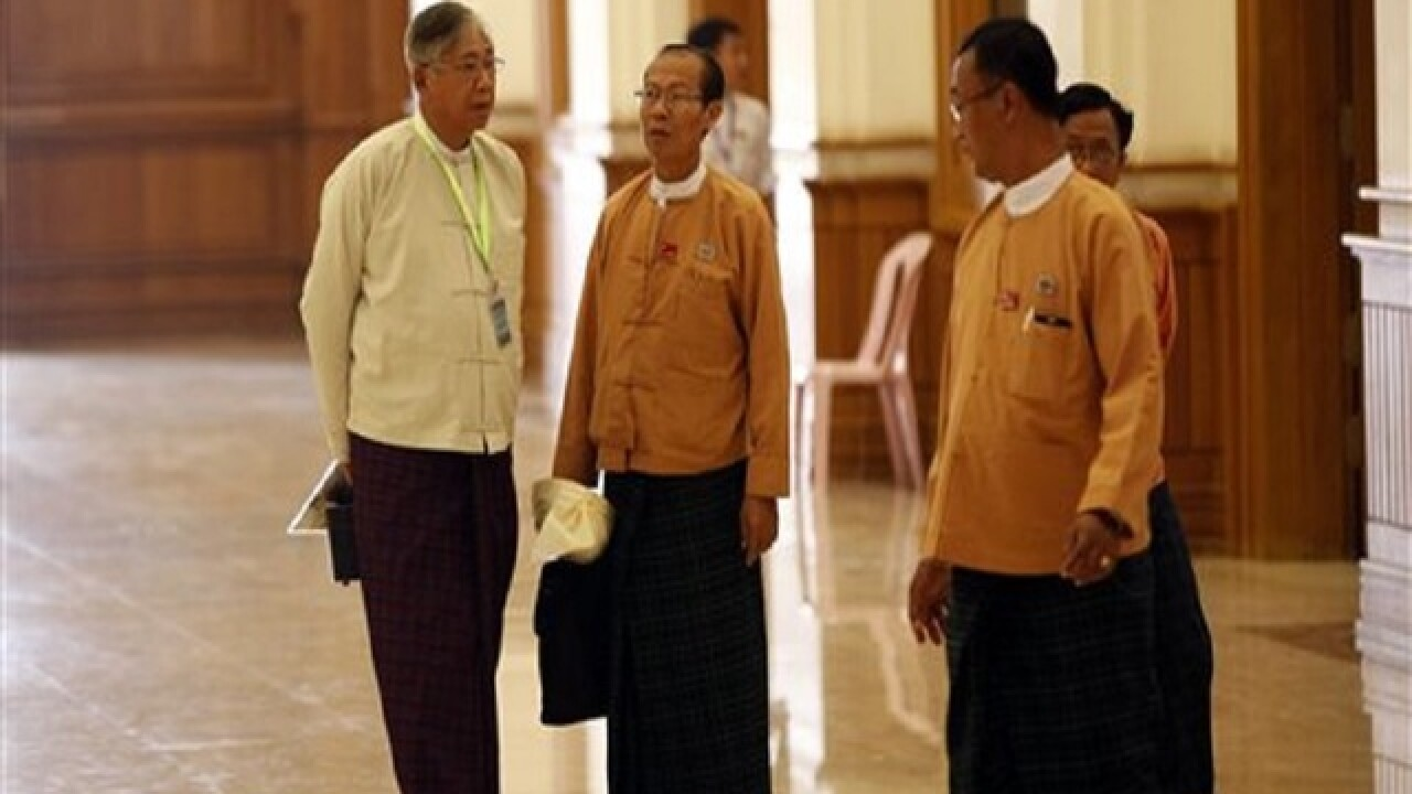 Htin Kyaw sworn in as Myanmar's president
