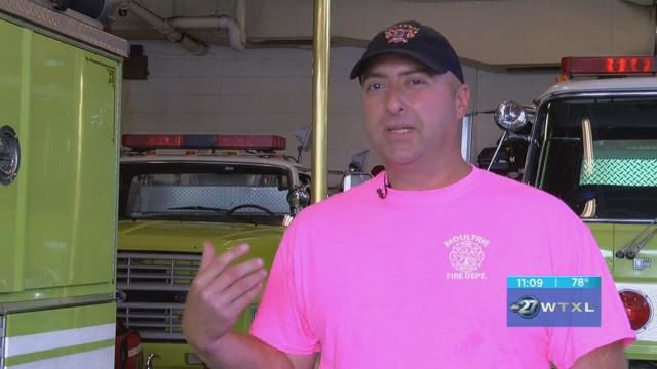 Moultrie Fire Department Sells T Shirts To Help In Breast Cancer Fight