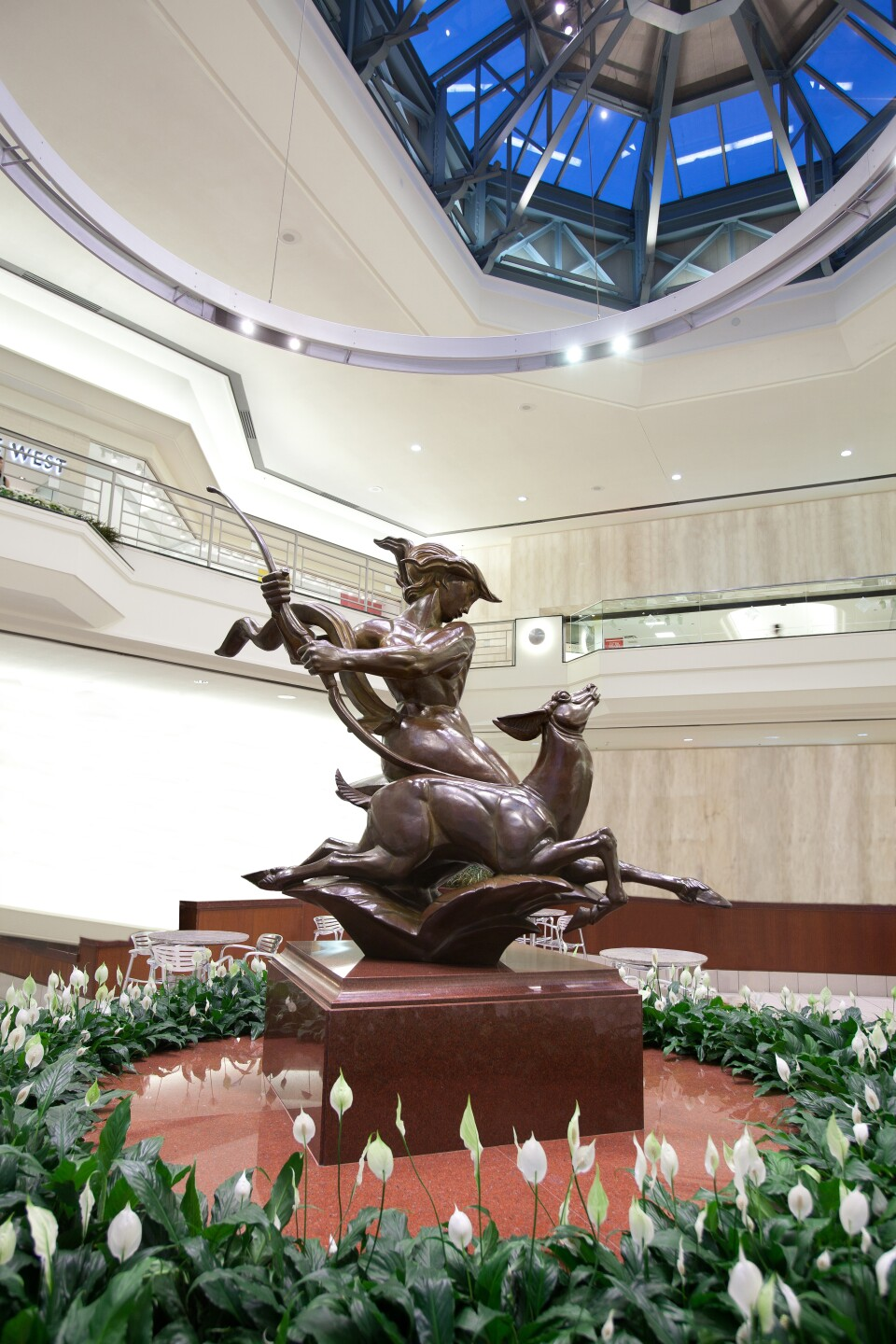 Diana by Albert Wein – a 66-inch-high bronze casting modeled after the Greek mythological goddess of the hunt.