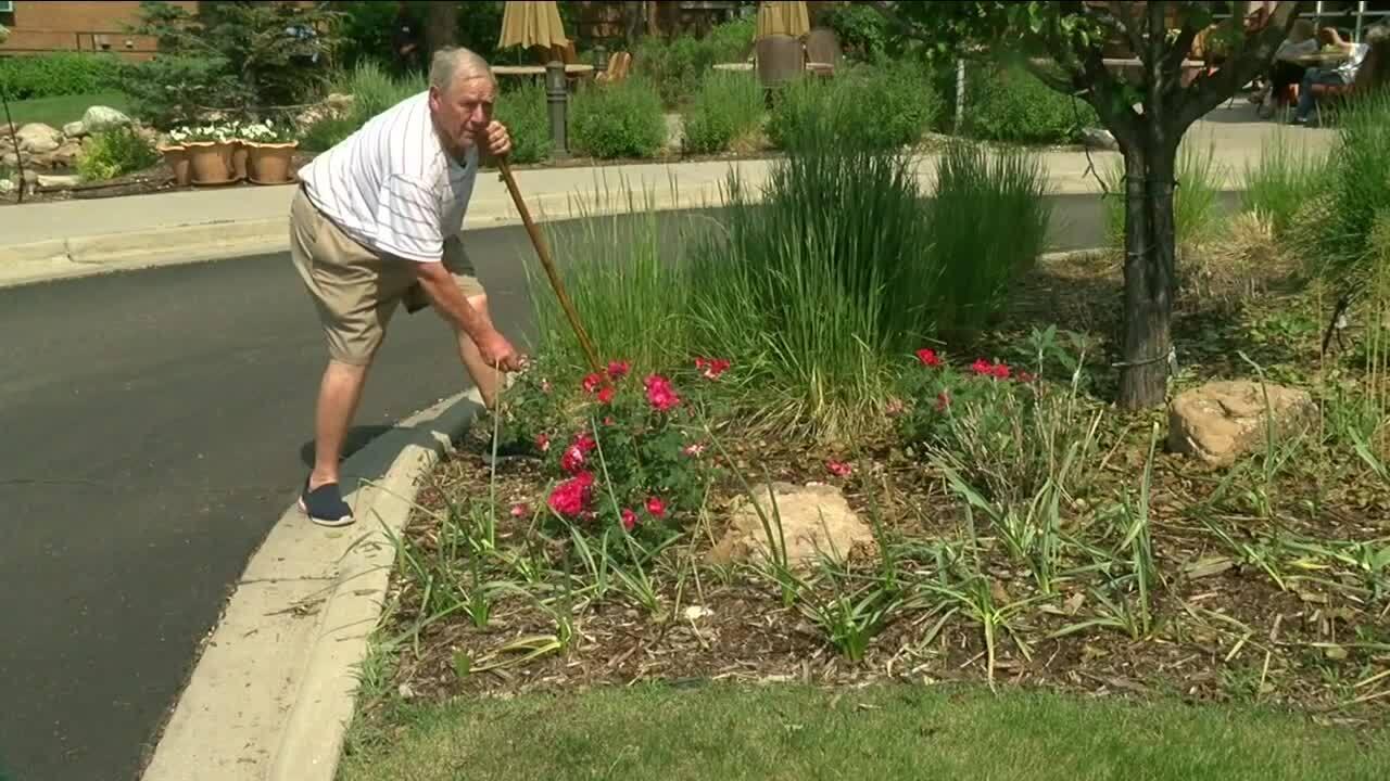 Senior man's green thumb is helping a retired living community flourish in Denver