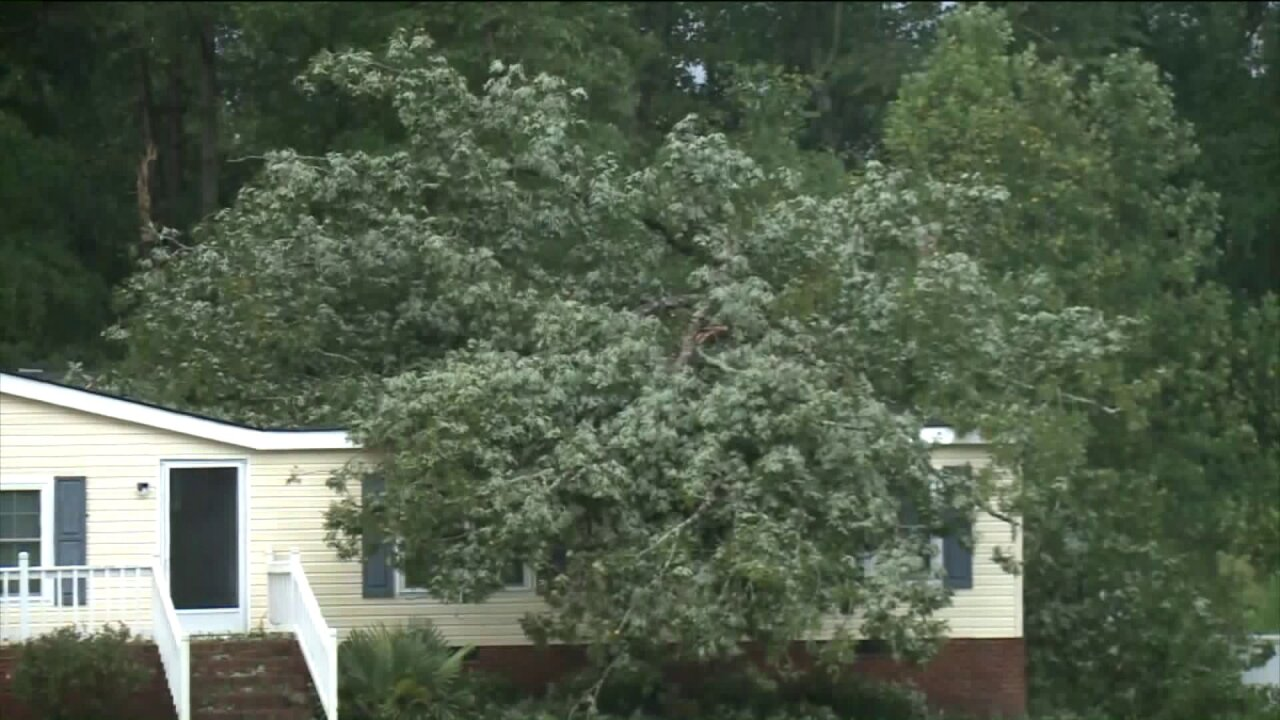 Close call for Isle of Wight neighbors afterstorm