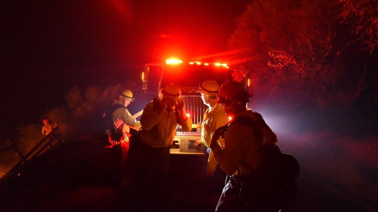 Wildfire burning more than 3,000 acres near Santa Barbara, California