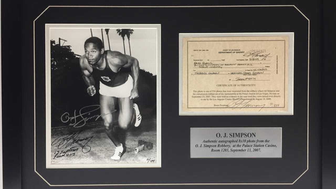 You can own the O.J. Simpson photo that was stolen from Palace Station