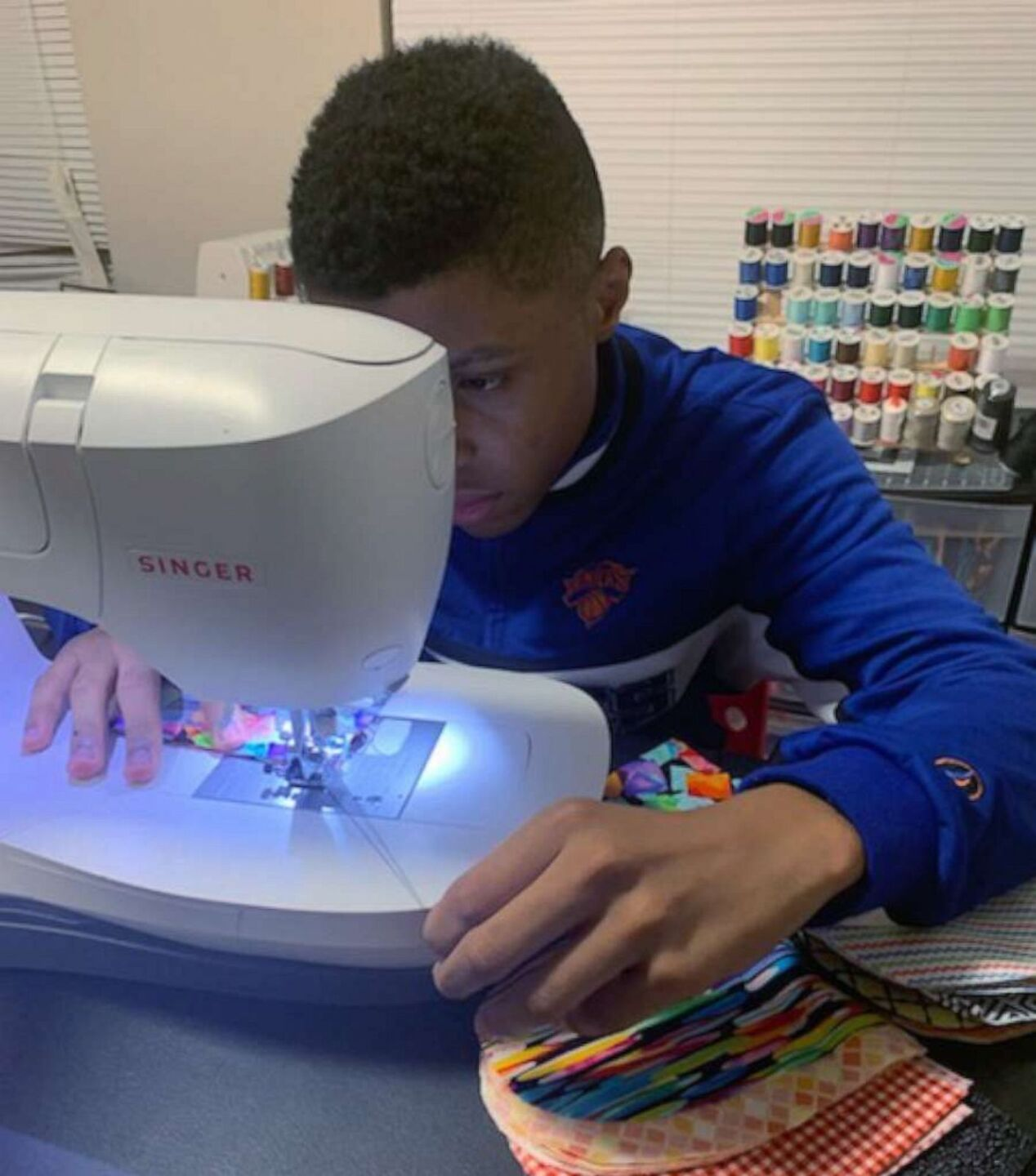 Sir Darius Brown learned to sew because of his older sister Dazhai, who is a hairstylist and used to sew hair bows.