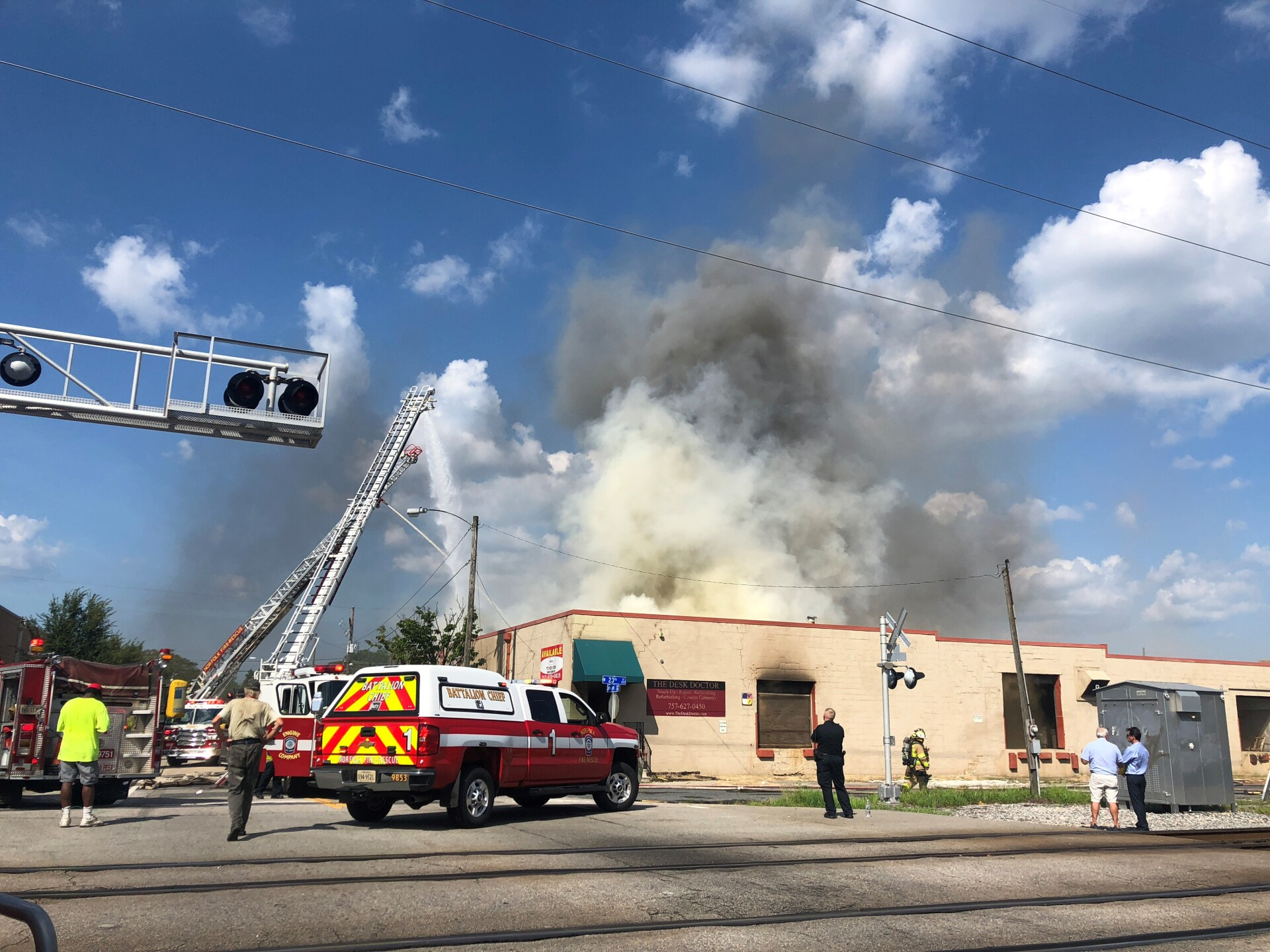 Photos: Firefighters pulled from large commercial fire inNorfolk