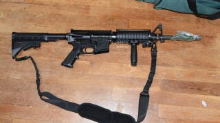 Blue Ash Police Department photo of gun seized during execution of search warrant