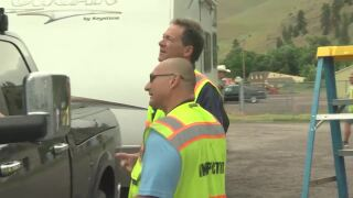 Bullock helps out at AIS inspection station in Western Montana