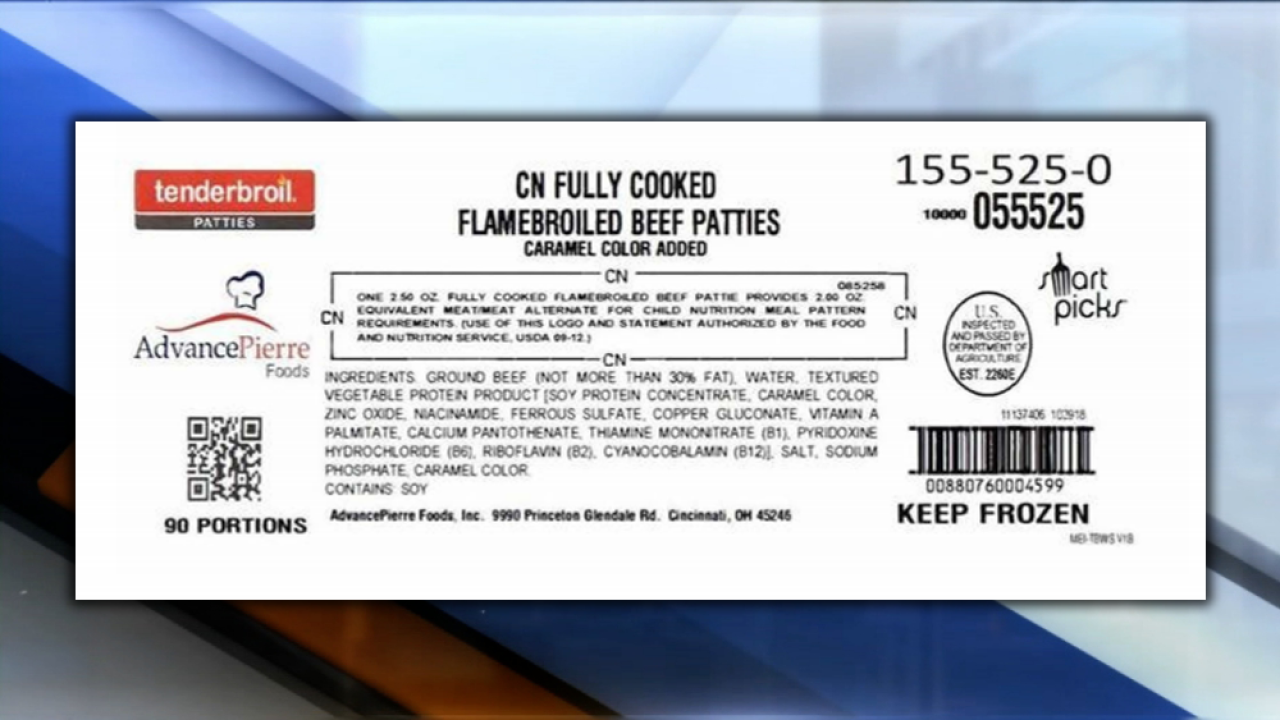 Frozen ready-to-eat beef patties recalled due to possible plastic contamination