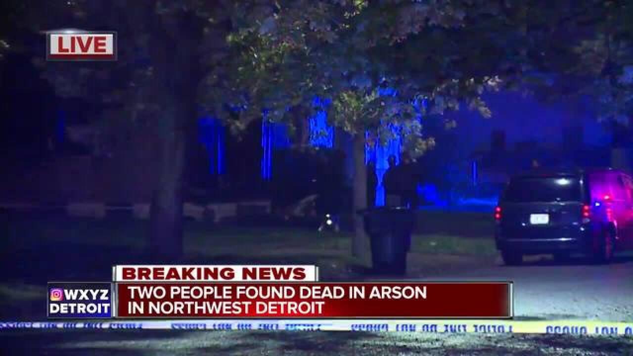 Two dead in arson in Northwest Detroit