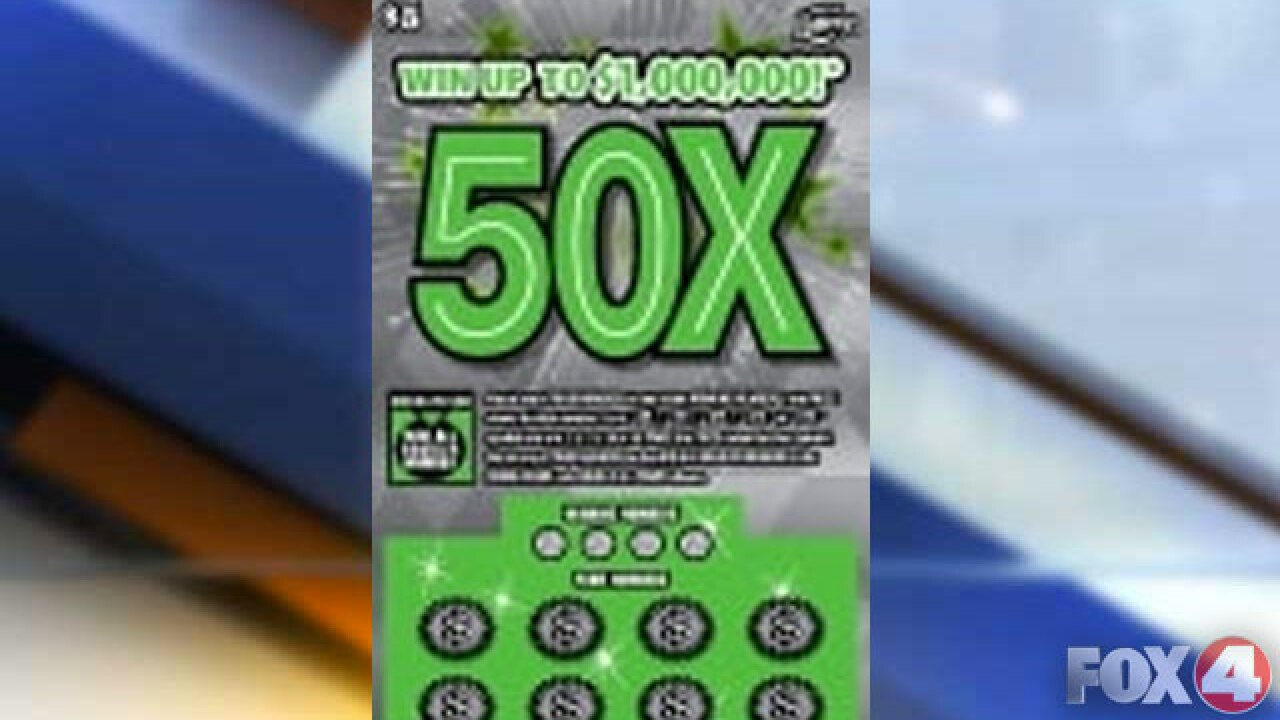 Florida Lottery 50X Scratch-Off game