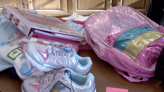 Backpack school supplies back to school