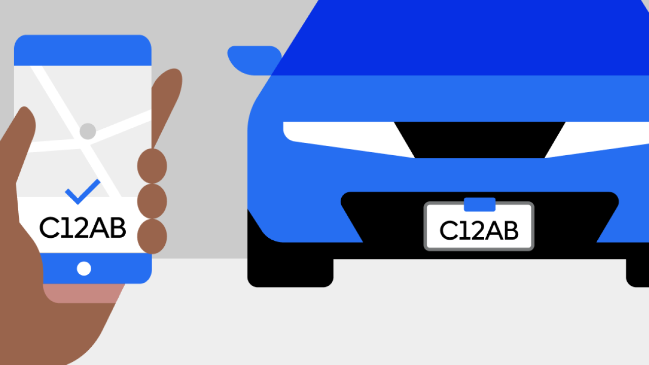 Design of someone matching license plate numbers
